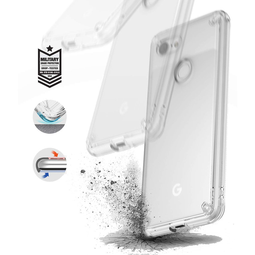 Rearth Ringke Fusion Google Pixel 3 Case - Clear