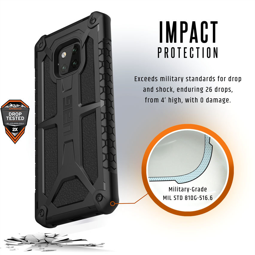 Uag Monarch Huawei Mate 20 Pro Protective Case Black