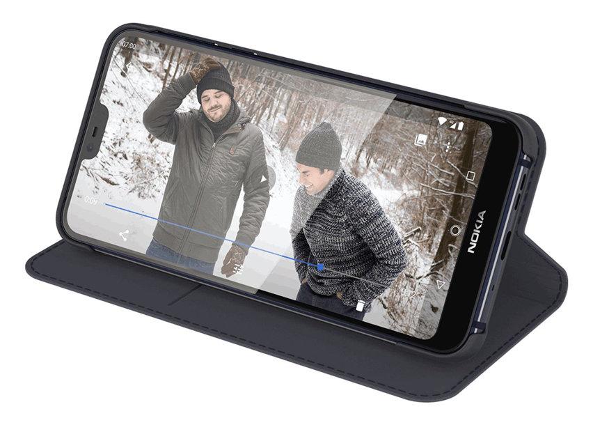 Official Nokia 7.1 Entertainment Flip Wallet Case - Blue