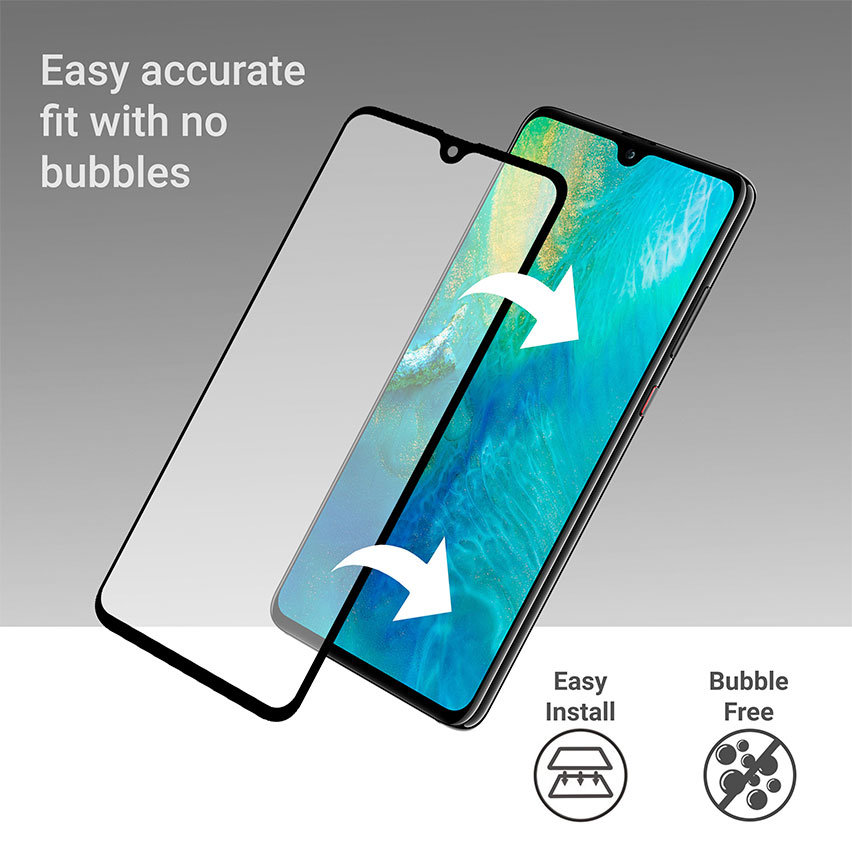 Olixar Huawei Mate 20 Full Cover Glass Screen Protector - Black