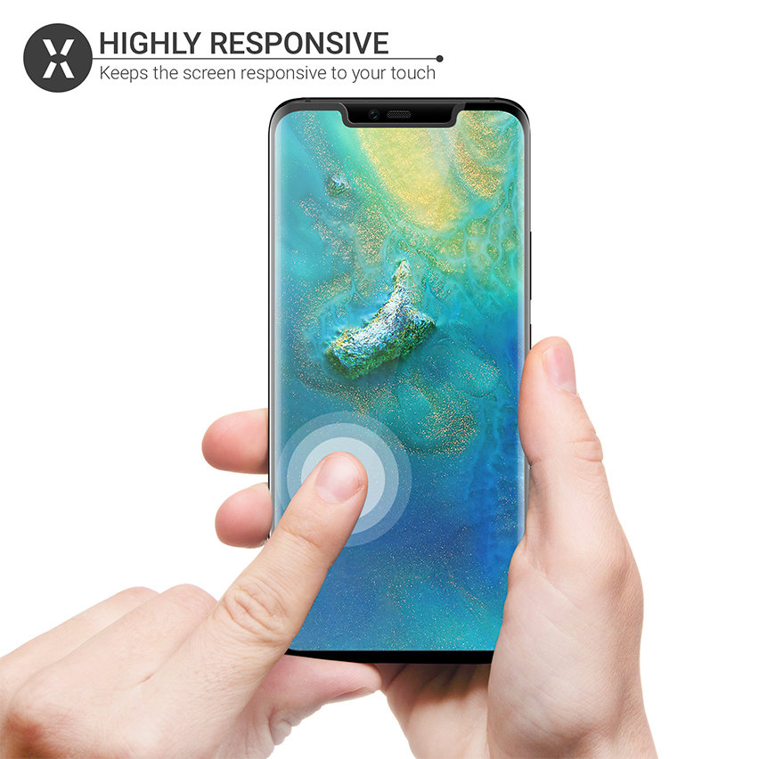 Olixar Huawei Mate 20 Pro Full Cover Tempered Glass Screen Protector