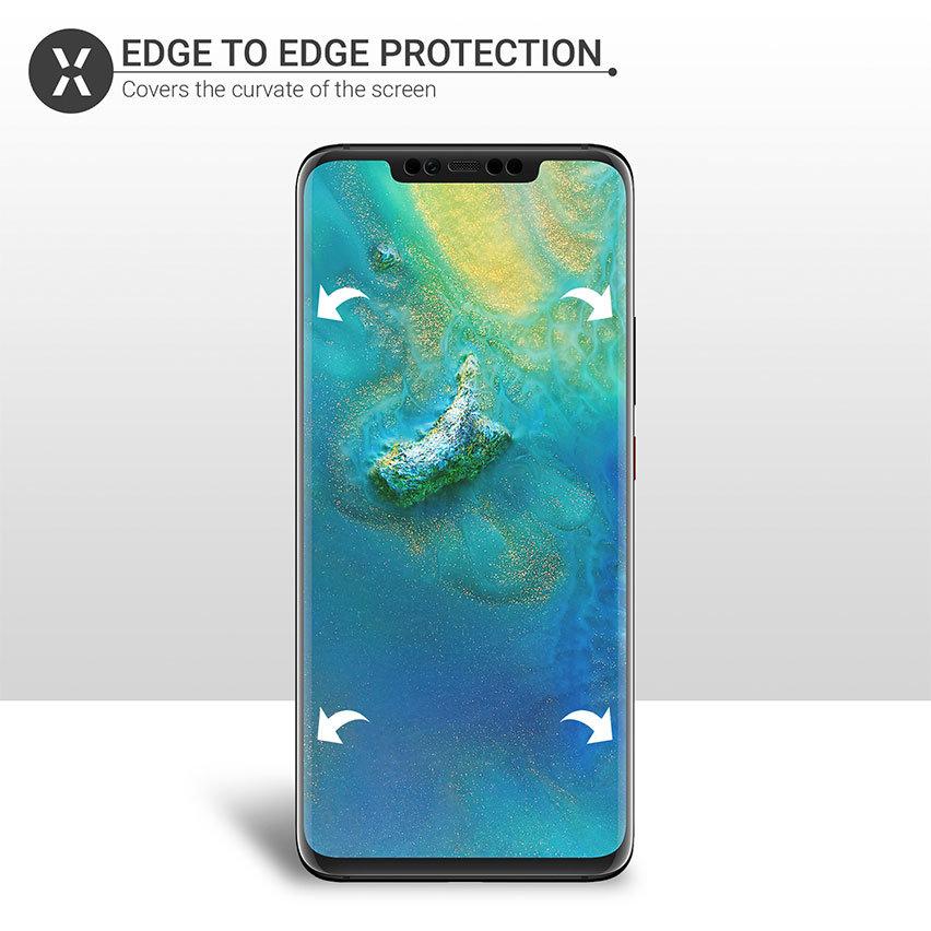 Olixar Huawei Mate 20 Pro Wet Application Film Screen Protector 2-in-1