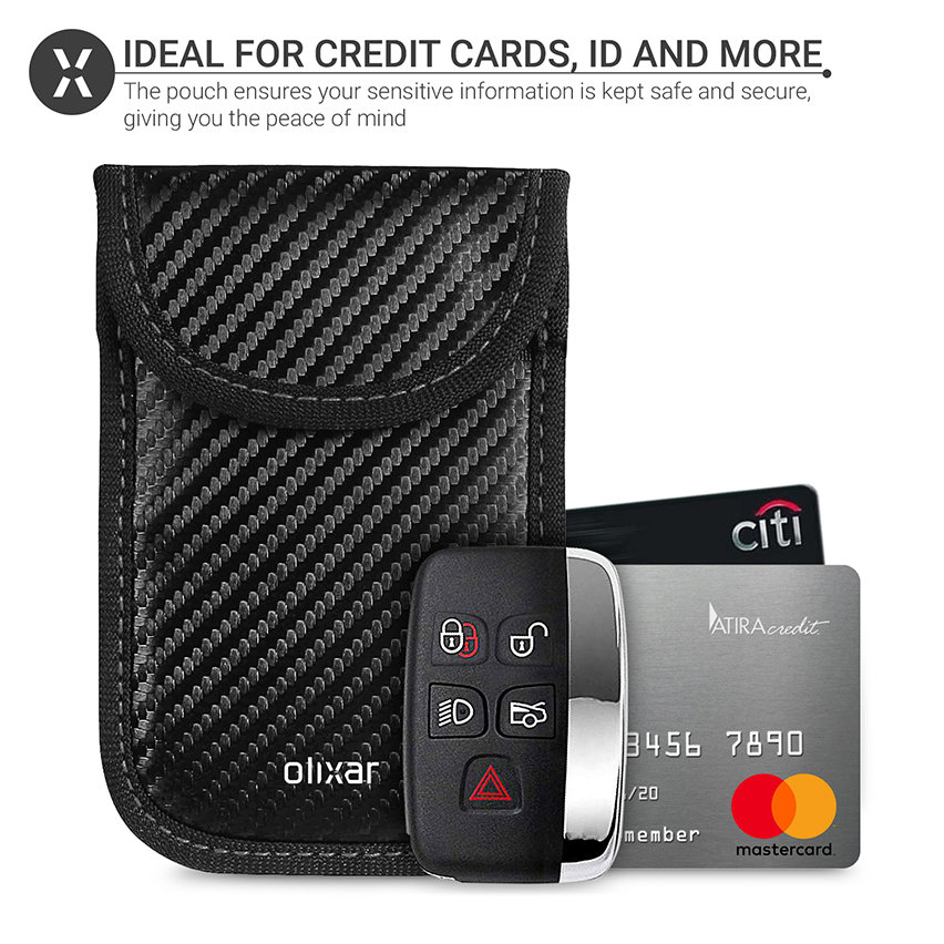 Olixar RFID Car Key Signal Blocking Pouch - Carbon Fibre