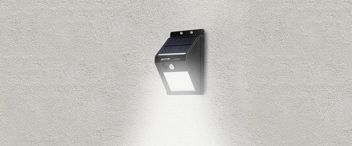 Promet Outdoor Solar Powered LED Light with Dual Motion Activators