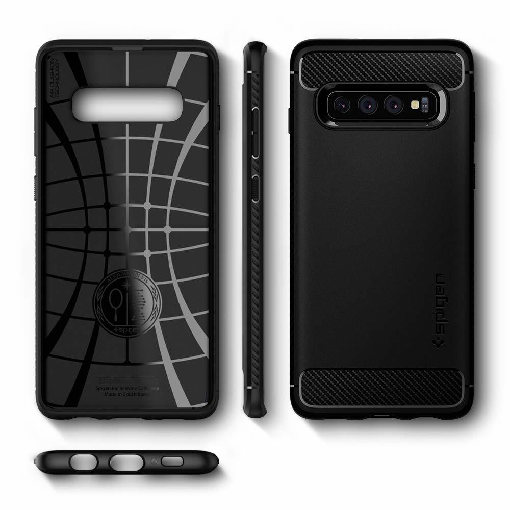 Spigen Rugged Armor Samsung Galaxy S10 Case - Black