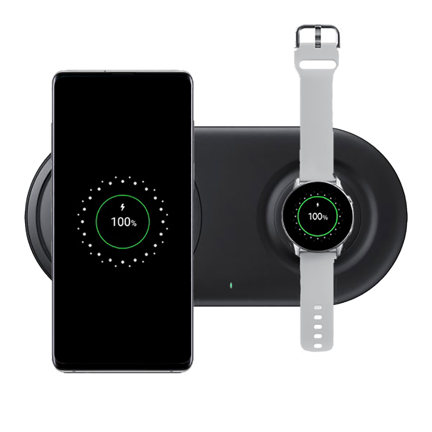 Official Samsung Qi Wireless Fast Charging 2.0 Duo Pad Black