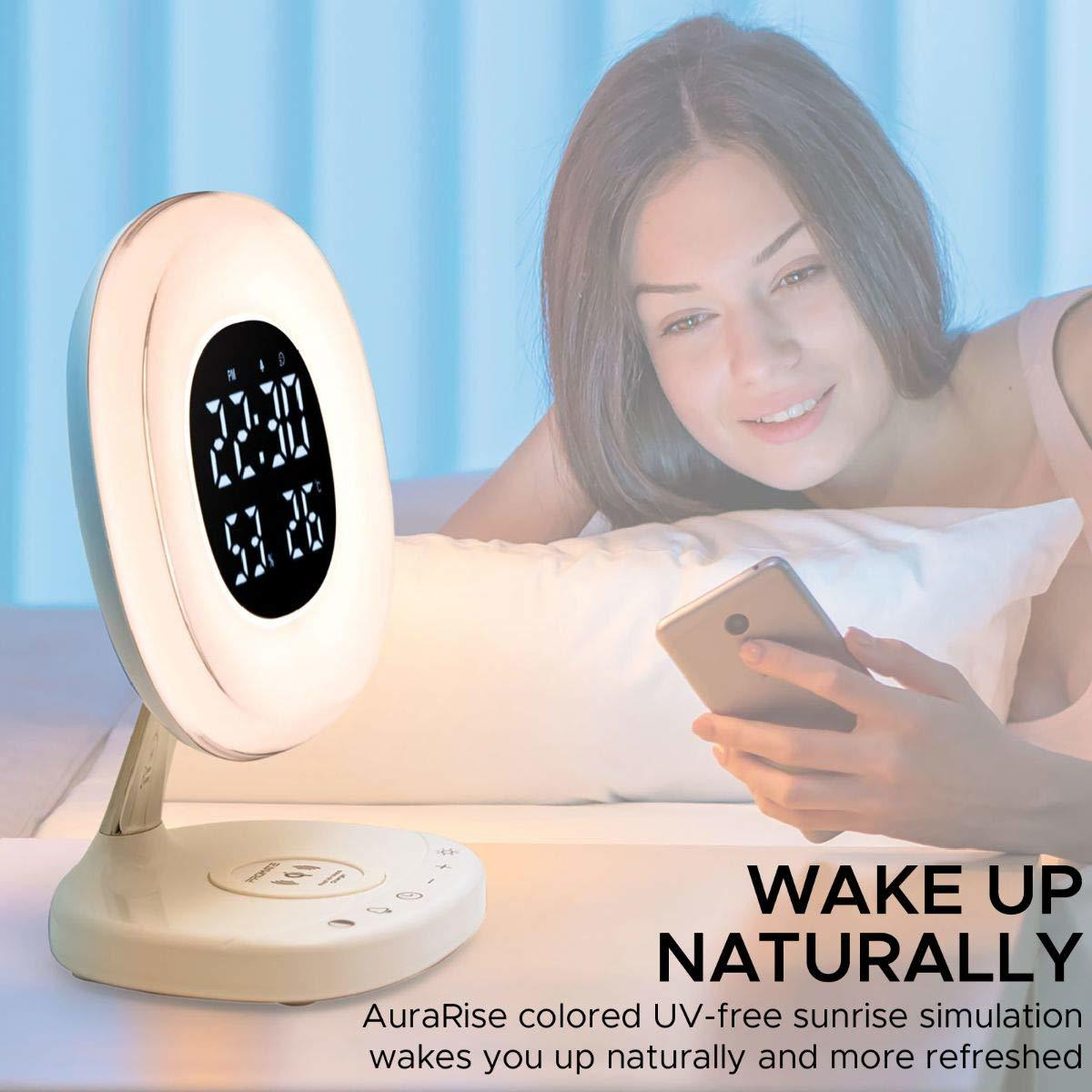 Promate AuraRise Digital Alarm Clock and Wireless Charging Station