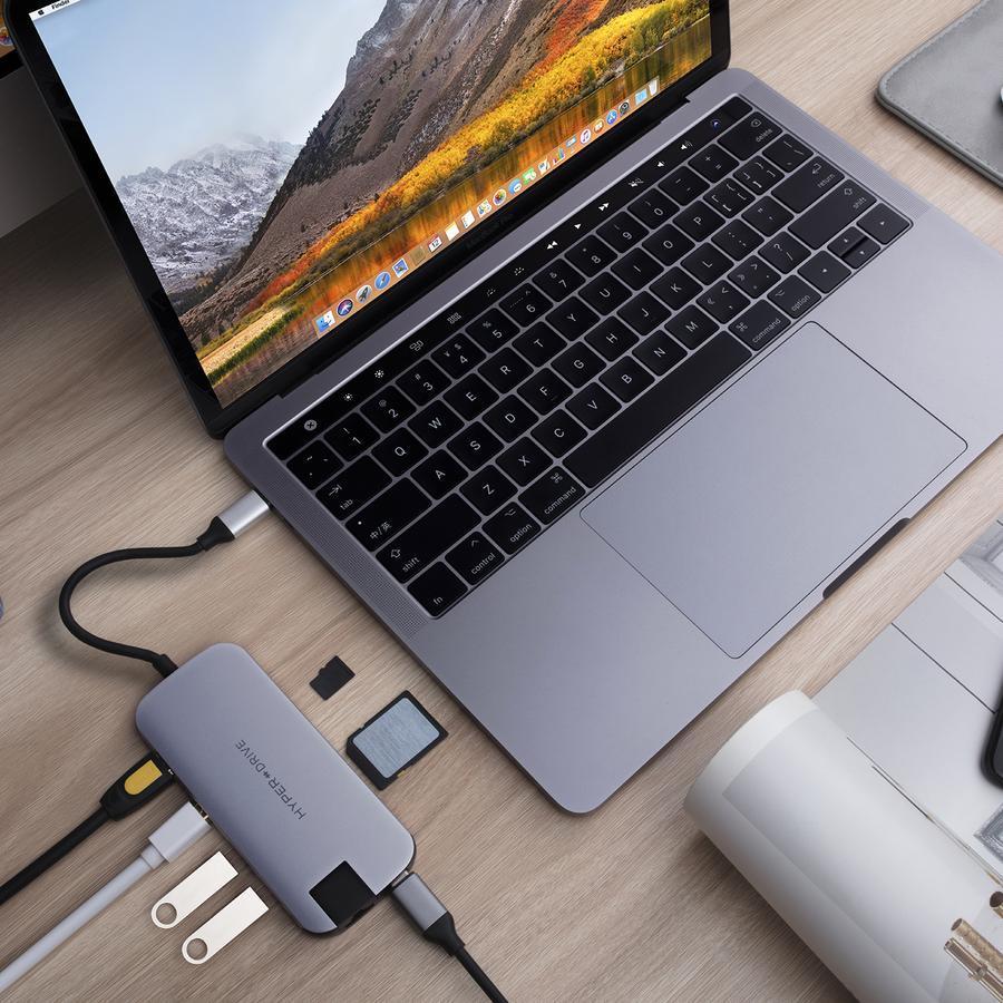 HyperDrive Slim 8-in-1 USB-C Hub - Space Grey