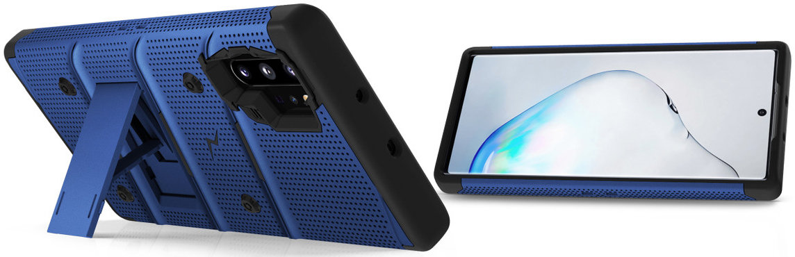 Zizo Bolt Samsung Note 10 Plus Case & Screen Protector - Blue/Black