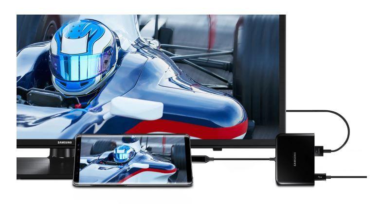 Official Samsung Type C 4-in-1 Multi-Port 4K Adaptor - Black