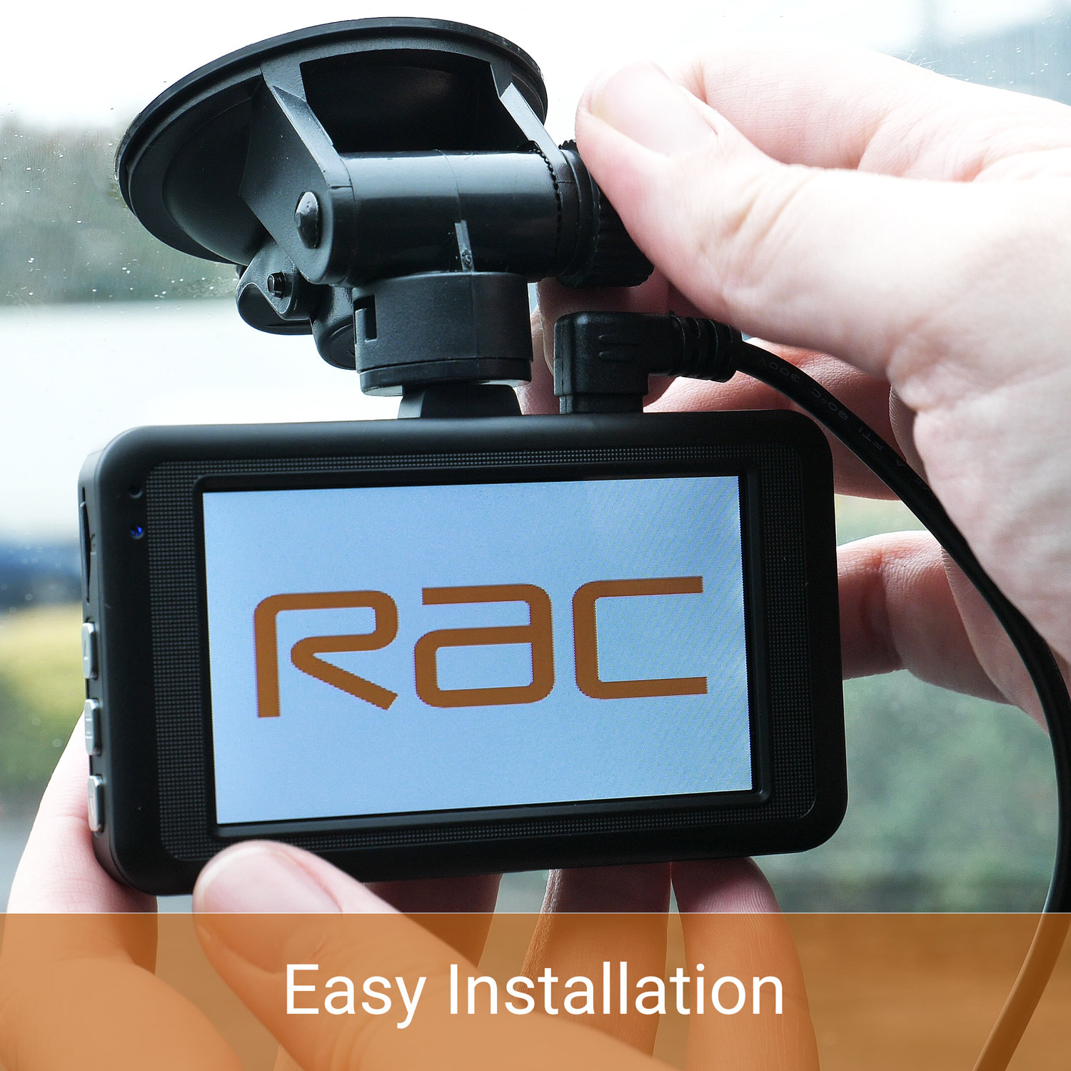 RAC R3000 Premium 1080p HD Dash Cam - Black