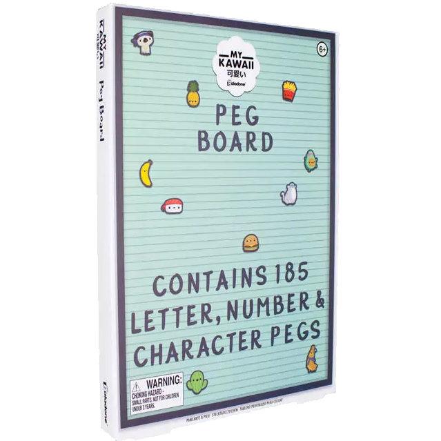 My Kawaii Memo Fun Peg Board - 185 Character, Letter & Number