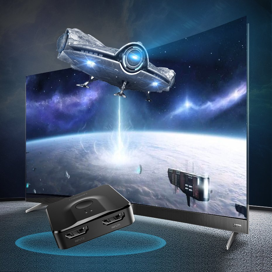 UGREEN HDMI to 2x HDMI 4K Splitter Switcher Adapter - Black