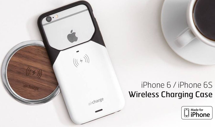 aircharge Qi iPhone 6 Wireless Charging Case - Black / Silver